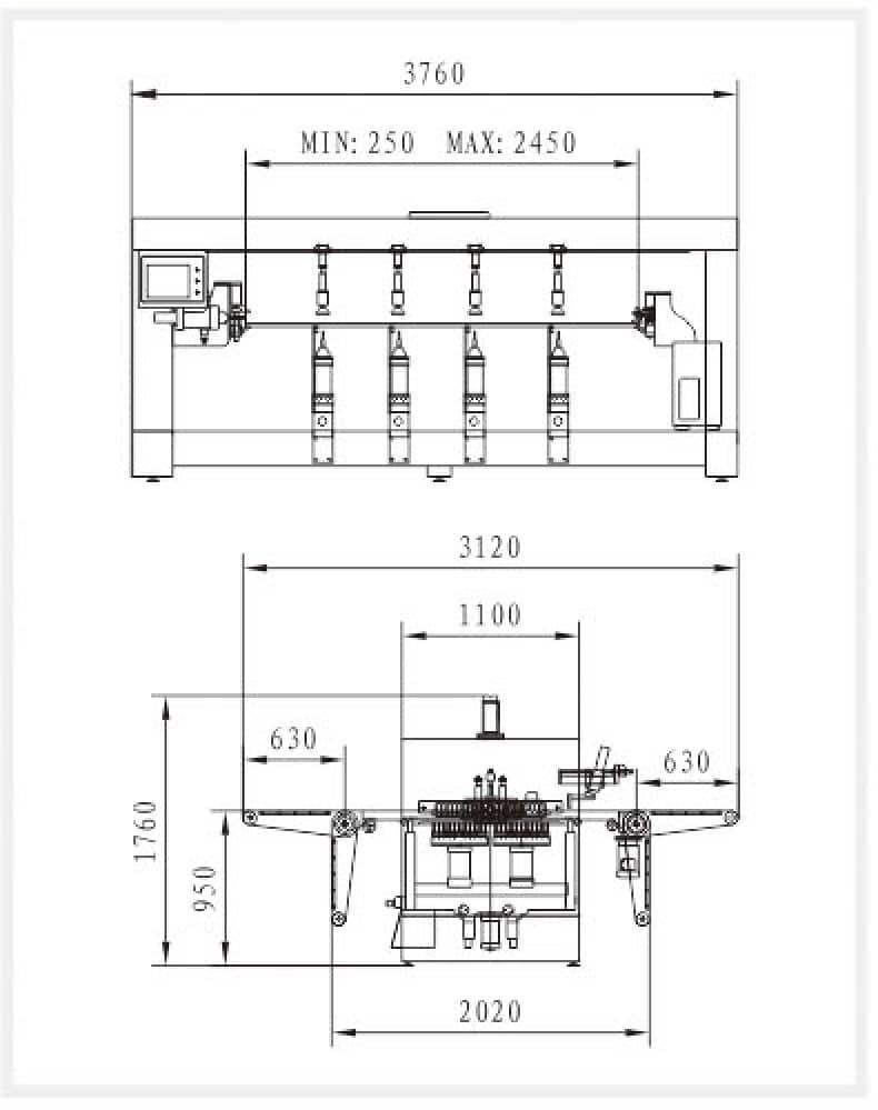 Траверсное расстояние WDX-6042